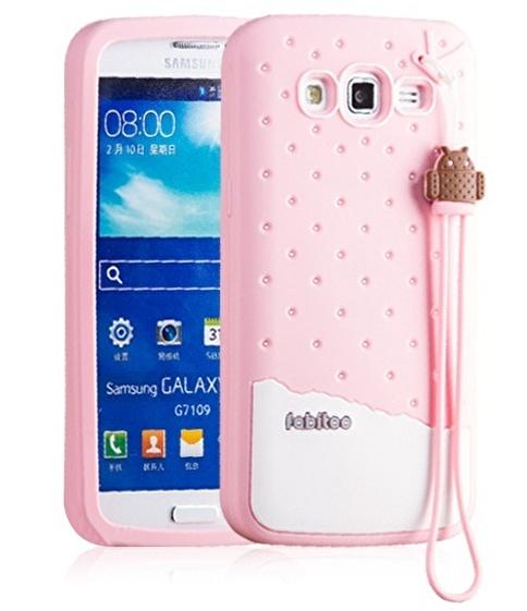 Fabitoo Samsung Galaxy Grand 2 Candy Kılıf  Pembe